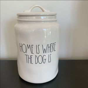 🐶Treat canister HOME IS WHERE THE DOG IS